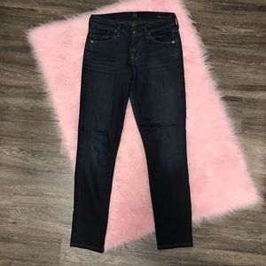 CoH Thompson Med Rise Cropped Skinny Jeans Sz 24